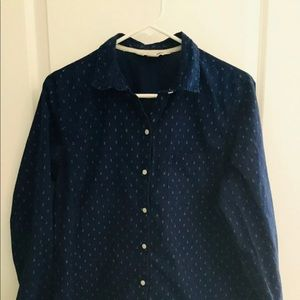 Women's Old Navy 'The Classic Shirt' Blue Anchor